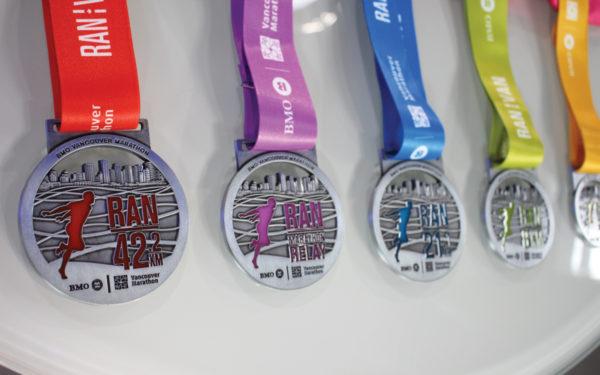 Vancouver Marathon Medals