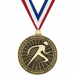 Award 100 Meter Run Custom Medals
