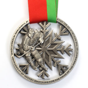 Beautiful ice hockey Medal