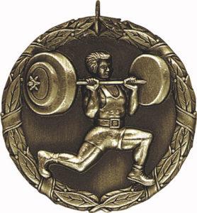 Custom women's weightlifting Medals