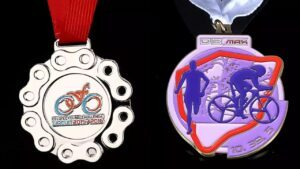 Custom road cycling medals