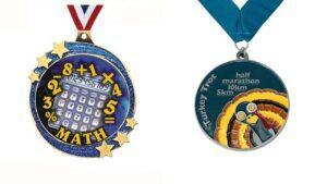 Custom student running Medals