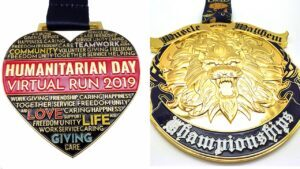 Custom endurance running medals