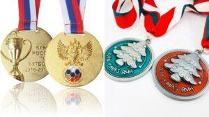 Custom football gold medals