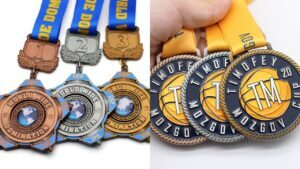 Custom made metal World Cup medals
