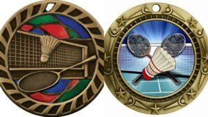 Custom women's tennis medals