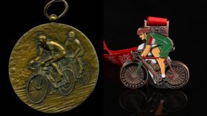 Customized cross country cycling medals