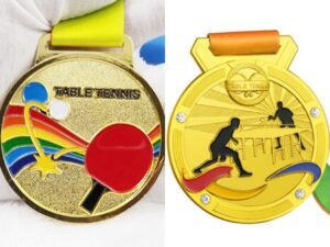 High quality customized table tennis medals