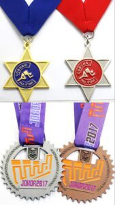 Custom made metal medals in various styles