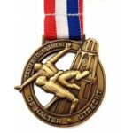 Urban wrestling medal