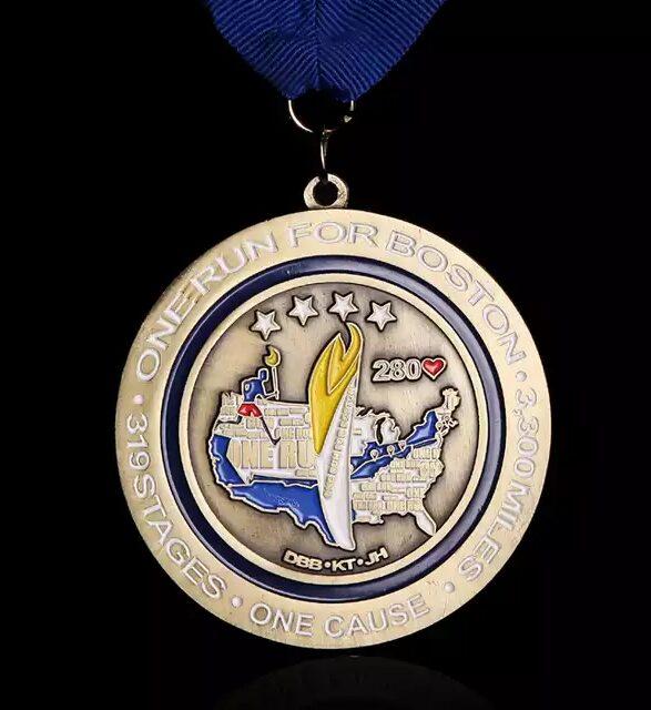 boston running medal